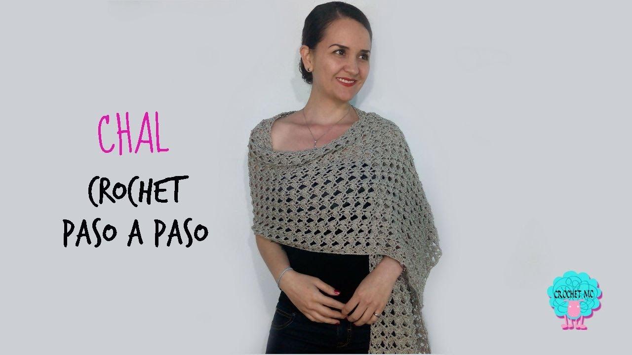 Chal rectangular a crochet -principiantes - YouTube