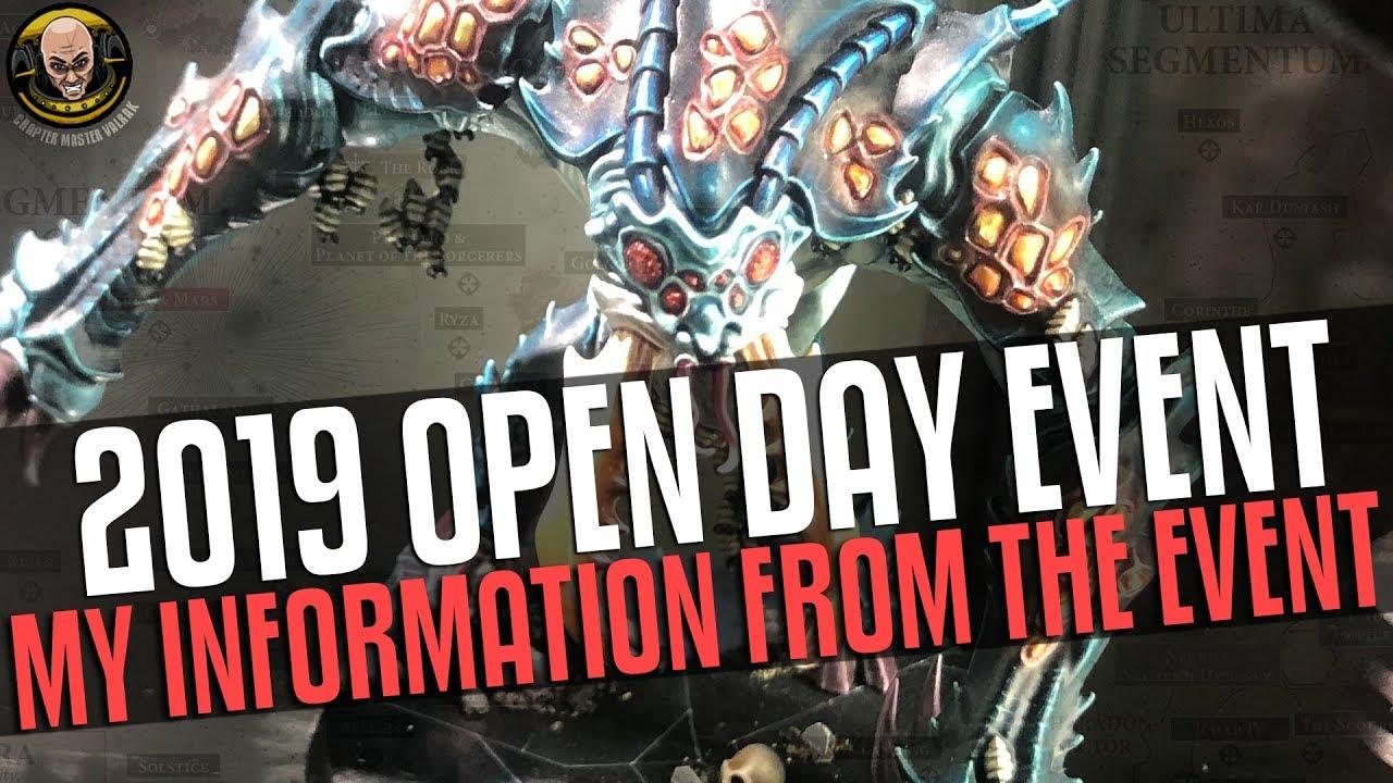 2019 Warhammer World Open Day: My Event Information