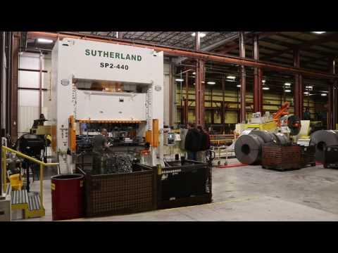 SP2 440 ton Progressive Die Press in Northern Ohio