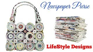 How to make a purse using newspaper ( LifeStyle Designs Unique Idea )