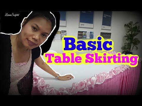 How to do Basic Table Skirting