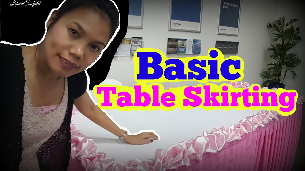 How To Do Basic Table Skirting