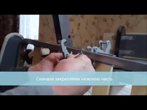 замена и установка матраса в диване аккордеон - YouTube