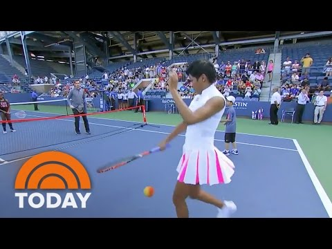 Andy Murray Schools Tamron Hall In Tennis Ahead Of US Open | TODAY