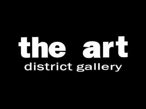 Setting up the new Art District Gallery in downtown Kitchene