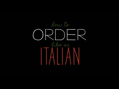 How to Order Italian Food- In Rome!