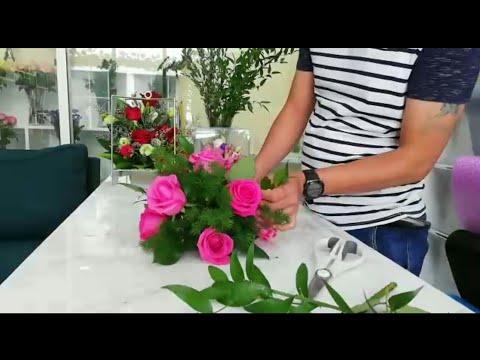 The basic flower arrangement for begginer