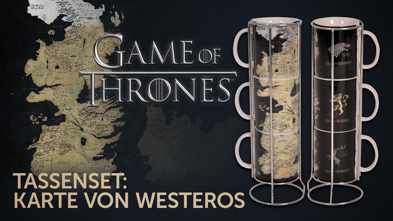 Got Karte Westeros.Game Of Thrones Karte Von Westeros Tassenset