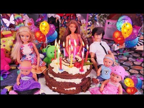 Rodzinka Barbie 💜 Urodziny dzieci 💜 Nowy pies i prezenty??? 💜 Bajka po polsku z lalkami