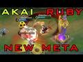 Mobile Legends BEST DUO LANE HERO - Ruby | Akai OP Gameplay
