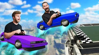 HoverCar Stunt Race Over The City! | GTA5