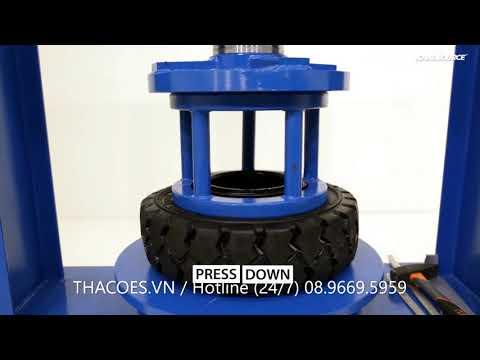 Tháo ép lốp đặc xe nâng đúng kỹ thuật (Presstire solid standard)