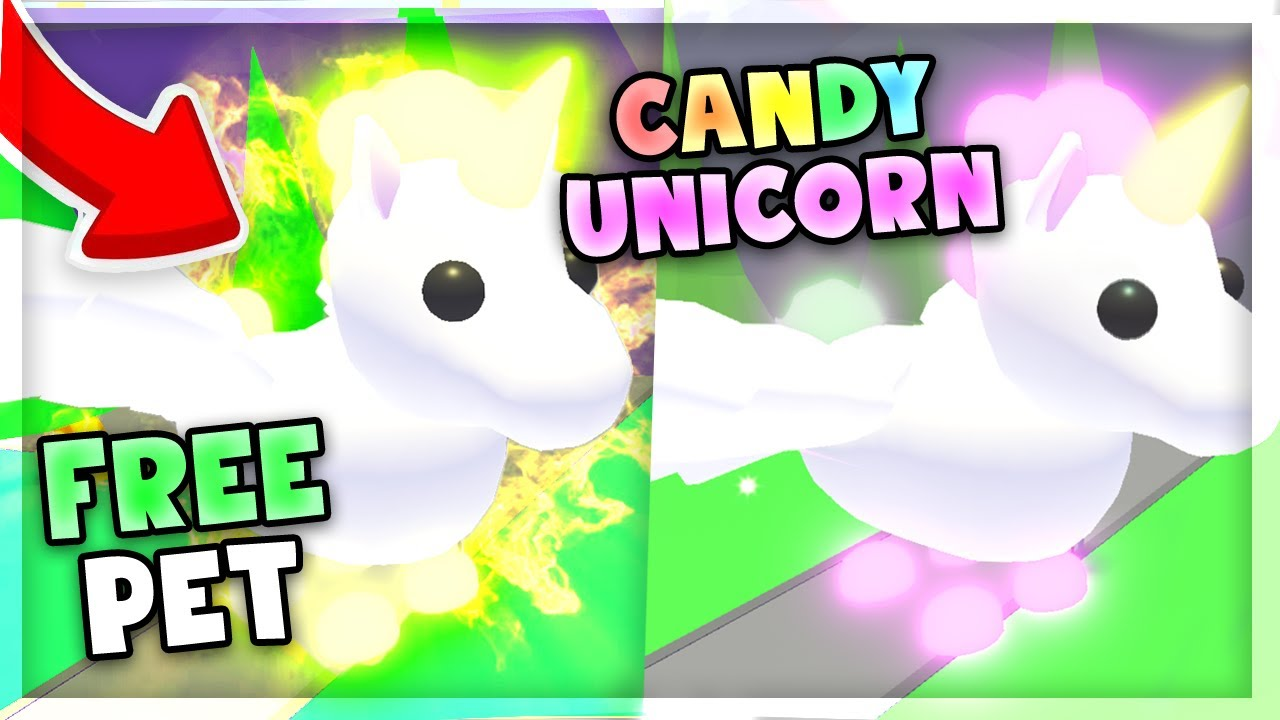 New Free Candy Corn Unicorn In Adopt Me Secret Location Roblox