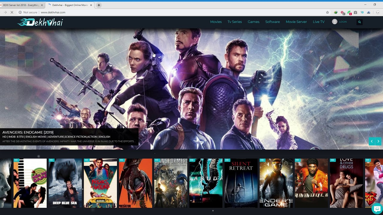 How to download movie in bdix server