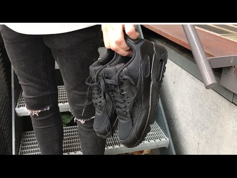 Nike Air Max Gs Black Mesh Unboxing
