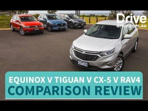2018 Holden Equinox v Volkswagen Tiguan v Mazda CX-5 v Toyota RAV4 Comparison Review - Dauer: 12 Minuten