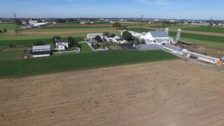 AMISH FARM IN LANCASTER BY DRONE IN 4K