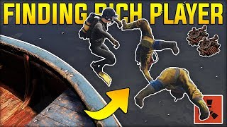 FINDING the RICHEST PLAYERS FULL of LOOT on the OCEAN! - Rust Gameplay