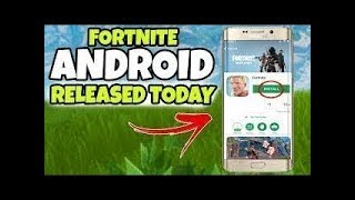 FORTNITE ANDROID APK DOWNLOAD !