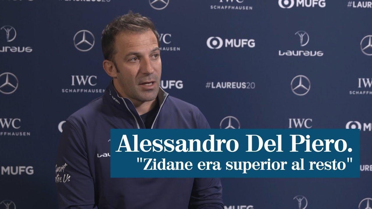 """Entrevista a Alessandro Del Piero: """"He jugado con futbolistas increíbles pero Zidane era superior"""""""