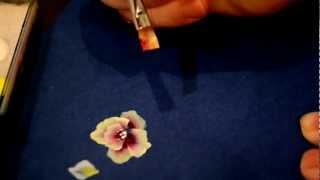 Учимся китайке,уроки для начинающих.4 урок, рисуем цветы. Дизайн ногтей.