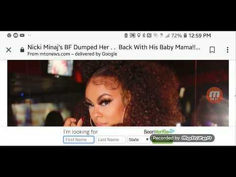 Nicki Minaj's BF dumped her went back to baby mama.