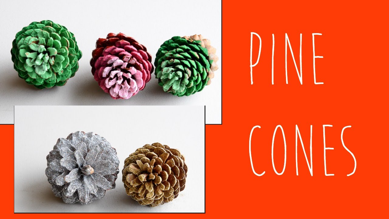 Pine cones for crafts - Christmas Diy How To Make Pine Cone Decorations Glitter Pine Cone Christmas Crafts Ali Coultas