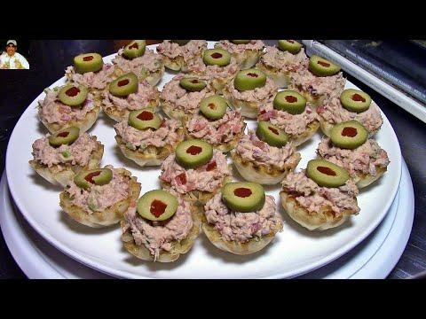 Dip de atún para canapés | Aperitivos faciles | recetas de cocina