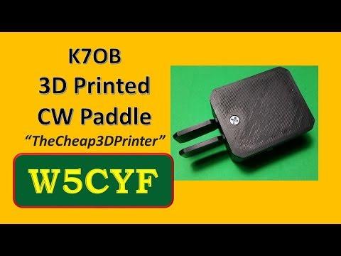K7OB 3D Printed CW Paddle – Review