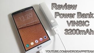 Review Power Bank Bater a Externa - VINSIC Tulip 3200mAh - Android Apps Team