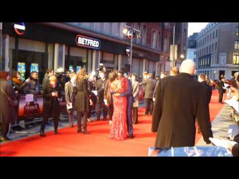 Rosario Dawson takes Trance co-star by surprise at premiere
