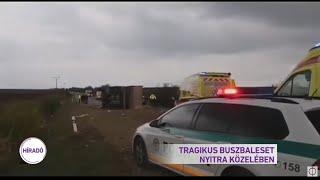 Tragikus buszbaleset Nyitra közelében