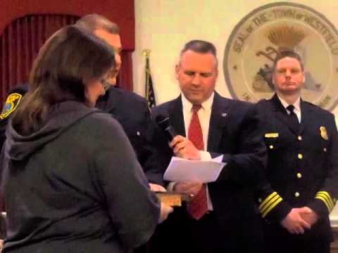Officer Gregory Penn being sworn in