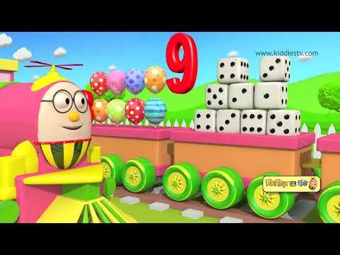 Learn numbers with Humpty the train | हम्प्टी ट्रेन के साथ गिनती सीखें | toy train | kiddiestv hindi
