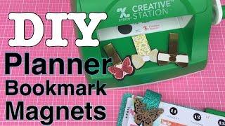 DIY Planner Bookmark Magnets ♥ Ft. Xyron Creative station (Sticker Maker)| I'm A Cool Mom