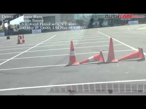 Nissan Sunny Driving Experience, Slalom Test In BIC, India