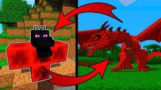 Как Вырастить Огненного Эндер Дракона в Майнкрафт ПЕ выживание мод видео мультик для детей Minecraft