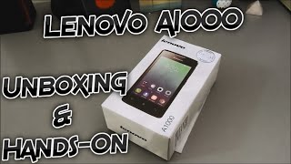 Lenovo A1000 Unboxing and Hands-On - First Boot