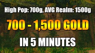 700-1500 GOLD IN 5 MINUTES (WoW Gold Farming Guide)