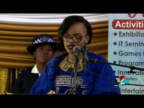 Her Royal Highness Princess Sikhanyiso, The Minister of ICT Speaking at The 2018 ICT Fair Eswatini
