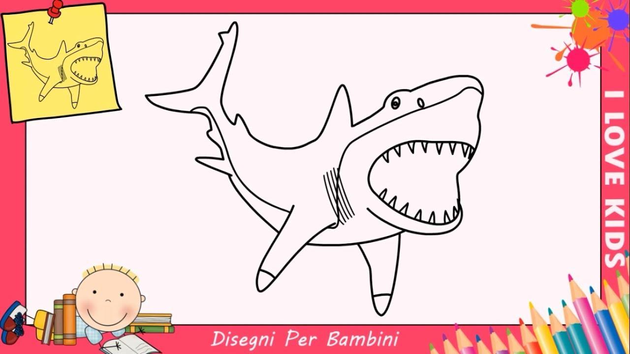 Disegni di squali facili per bambini come disegnare uno for Disegni facili per bambini