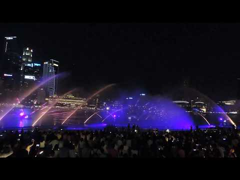 Spectacular Water & Light Multimedia Show  @ Marina Bay Sands Singapore WONDER FULL (DON'T MISS)