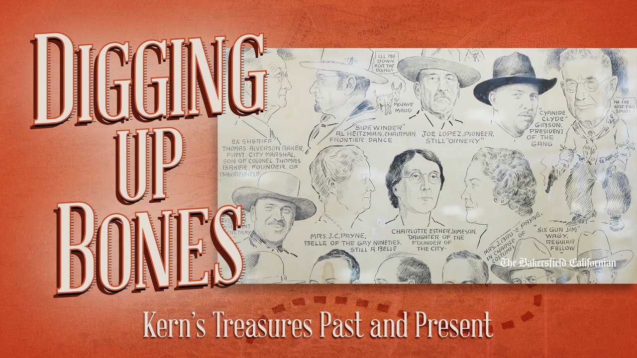 Digging Up Bones: Frontier Days Caricatures Poster from 1930s, Lori Wear