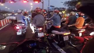 Kawasaki ninja H2  chạy về quê Tiền Giang ăn tết nè!