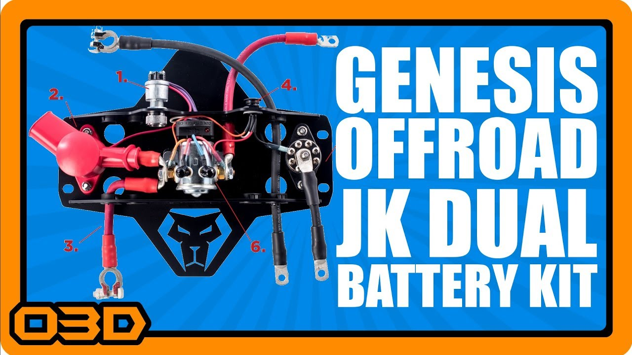 Genesis Offroad Jk Dual Battery Kit Pre Installation Overview And Winch Wiring Jeep Wrangler Review