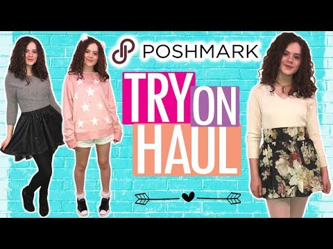 Poshmark Try On Haul! 10 Cute Things I Bought on Poshmark!  Shop My Closet!