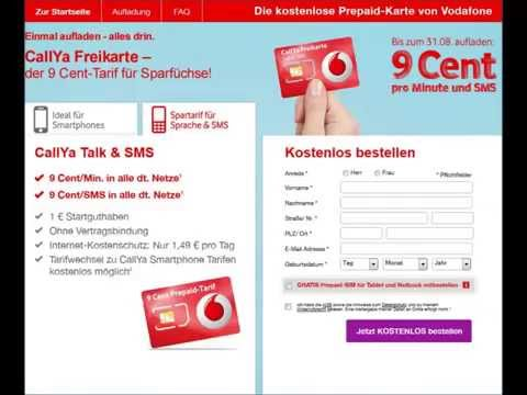 Vodafone Sim Karte Bestellen Kostenlos.Vodafone Callya Freikarte Kostenlose Prepaid Sim Karte Mit 4g Lte Netz Prepaiddealz De
