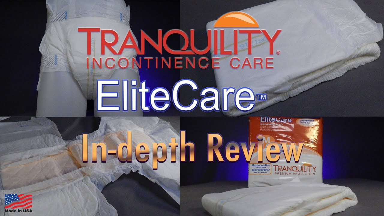 Tranquility® EliteCare™  Adult Diaper IN-DEPTH Review #incontinence #adultdiaper