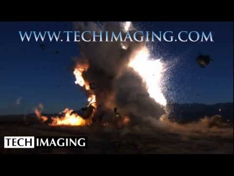 High Speed Camera Video - Rocket explodes