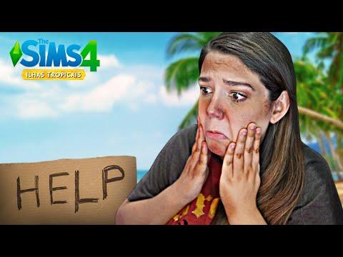 VIREI MENDIGA NA PRAIA - The Sims 4 Ilhas Tropicais